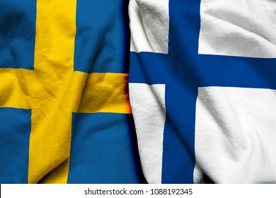 Sweden and Finland flag together