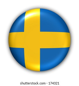 Sweden Flag Button