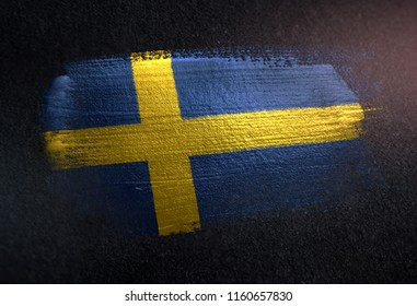 Sweden Street Sign Swedish Flag City Country Road Wall Gift Lund