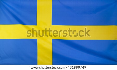 Sweden Flag real fabric seamless close up