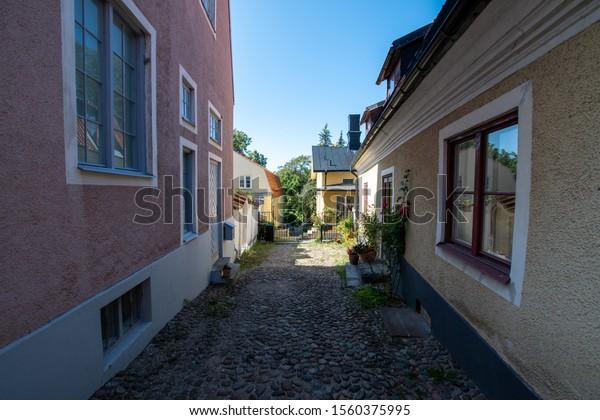 Sweden Gotland Visby old town