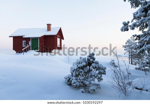 Sweden house winter