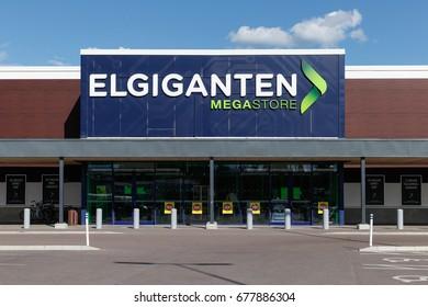 BORLÄNGE, SWEDEN - JULY 15 2017: Elgiganten electronics store