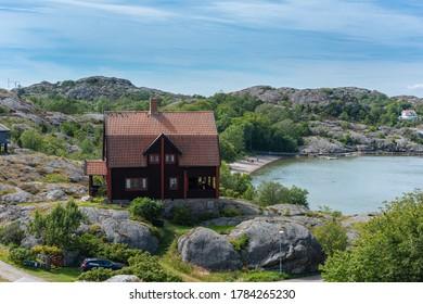 Fiskebäckskil, Sweden - July 25 2020: The villa of painter Carl Wilhelmson in fiskebäckskil