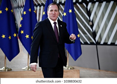 Sweden prime minister Stefan Lofven  attends the EU members' informal meeting of the 27 heads of state or government at European Council headquarters in Brussels, Belgium on February 23, 2018.