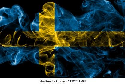 Sweden smoke flag