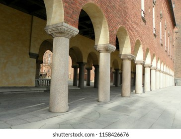Sweden, Stockholm, colonnade of City Hall