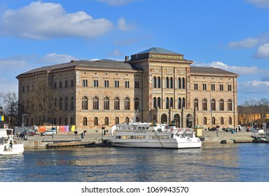 SWEDEN, STOCKHOLM - MARCH 27, 2018: Nationalmuseum (or National Museum of Fine Arts), national gallery of Sweden, located on peninsula Blasieholmen