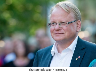 Sweden's Defense Minister Peter Hultqvist attends a speech given by Sweden's Prime Minister Stefan Lofven at Almedalen Week 2016, in Visby on the island of Gotland on July 5 2016