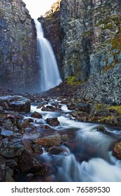 Swedens highest waterfall, Njupeskar , Alvedalens-Kommun, Dalarna.