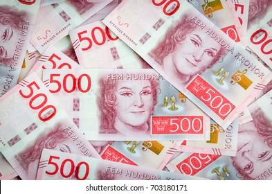Swedish 500 crown bills