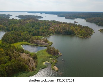 Swedish archipelago islands in the ocean