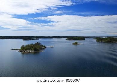 Swedish archipelago in sunny day