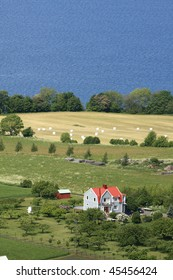 Swedish countryside near Joenkoeping, view from above