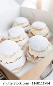 Swedish cream bun dessert
