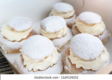 Swedish cream buns called semla
