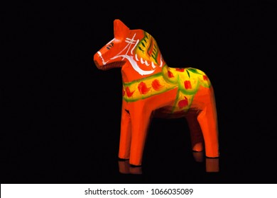 Swedish Dalecarlian horse or Dala horse is a traditional painted wooden statuette