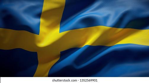 Swedish flag. Sweden.