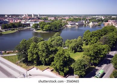 Swedish Infrastructure - Eskilstuna from Sweden seen from Church Tower