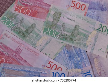 Swedish Krona banknotes money (SEK), currency of Sweden