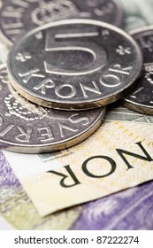 Swedish krones, coins and banknotes