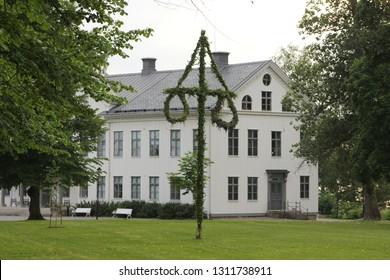 A swedish midsummer maypole