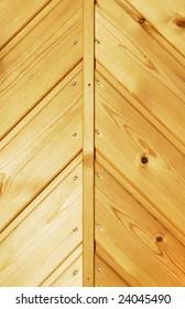 Swedish pine wooden door panel background.