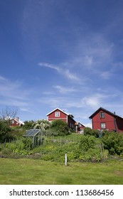 Swedish red cottages