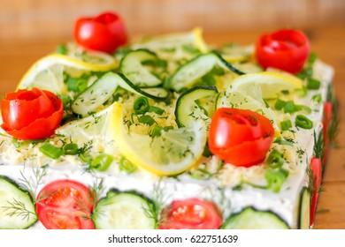 Swedish Sandwich Cake Smörgåstårta