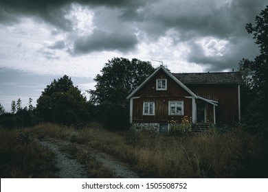 Swedish Scandinavian Old House in Forest