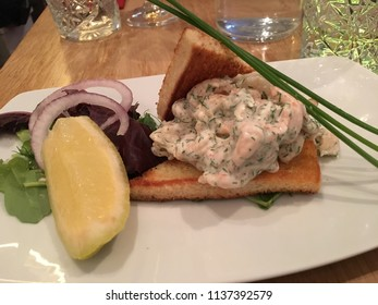 Swedish Shrimp Toast (Toast Skagen)