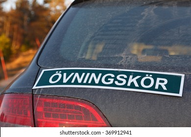 Swedish sign for driving practice ongoing.