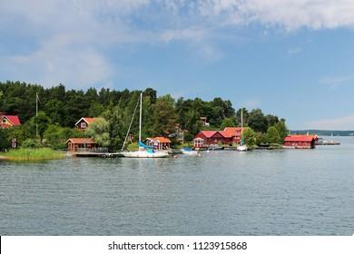 Swedish skerry island near Stockholm