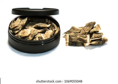 Swedish snuff - tobacco with white backgrond