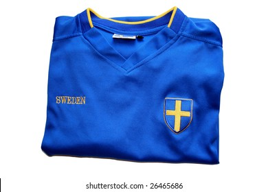 Swedish Soccer T-Shirt ready for the actions