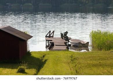 Swedish summer by an lake.