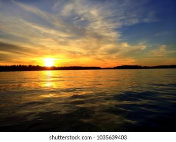 Swedish sun over the ocean