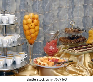 Swedish table with a dessert