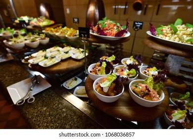 Swedish Table in resort in the hotel