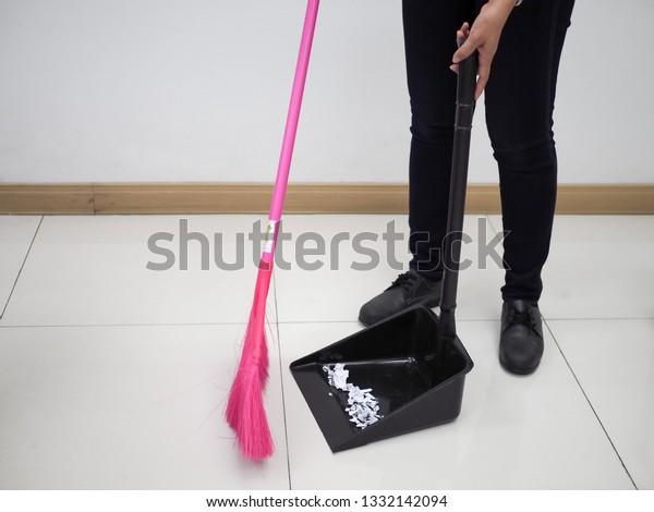 sweep floor dirt broom dustpan stock photo edit now 1332142094 https www shutterstock com image photo sweep floor dirt broom dustpan 1332142094