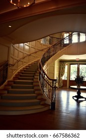 Sweeping grand staircase