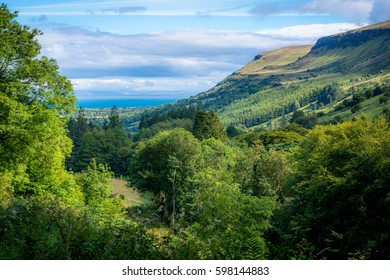 Sweeping valley in the Glens of Antrim, Northern Ireland