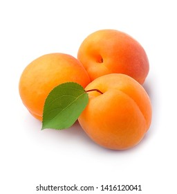 Sweet apricots isolated on white backgrounds.