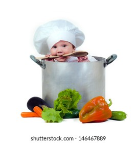 Sweet baby in a pot