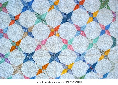 Sweet baby quilt, 1930s, Kite or Arkansas Star