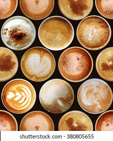 Sweet background. Seamless pattern with coffee cups