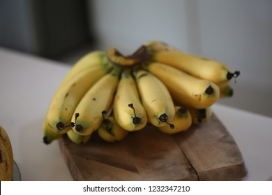 sweet banana on the table