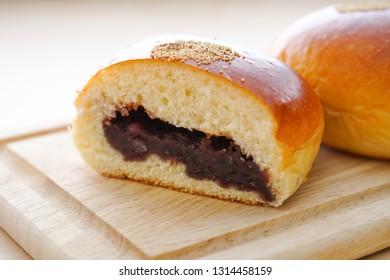 Sweet bean paste bun.