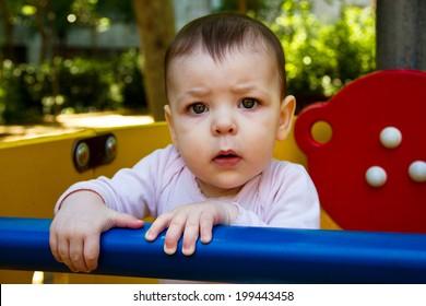 sweet and beautiful baby girl outdoor