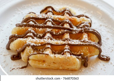 Sweet Belgian Waffles for Dessert or Breakfast